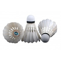 12PCS Training Sport White Goose Feather Shuttlecocks Badminton Ball Game