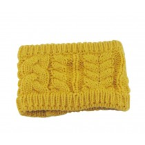 Yellow Twisted Knitted Hairband Wool Headbands Winter Sport Headwrap