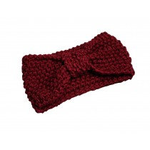 [Bow WineRed] Broadside Knitted Hairband Wool Headbands Winter Sport Headwrap