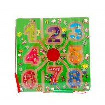 Funny Kids Circle Bead Maze Educational Parent-Child Toy With Magnetic PenNumber