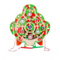 Funny Kids Circle Bead Maze Educational Parent-Child Toy With Magnetic Pen Tree
