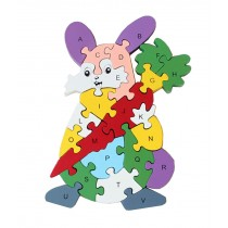 Funny Digital & Letter Wooden Blocks Puzzles Educational Puzzle Rabbit
