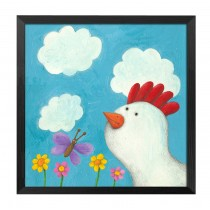 [Morning] Decorative Painting Framed Painting Wall Decor Kids Creative Picture