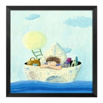 [Travel] Decorative Painting Framed Painting Wall Decor Kids Creative Picture