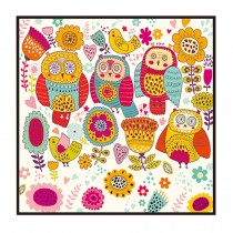 [Owl] Decorative Painting Framed Painting Wall Decor Kids Creative Picture
