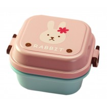 Rabbit Multifunctional Kid's Bento/Lunch Box/Container for Fruit/Salad/Snack
