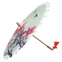 [Swallows Return] Handmade Chinese oil paper umbrella 33 inches in Diameter
