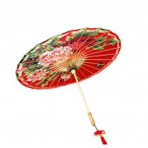 [Butterflies Flower] Rainproof Handmade Chinese Oil Paper Umbrella 33 inches
