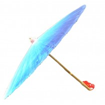 [Blue Impression] Rainproof Handmade Chinese Oil Paper Umbrella 33 inches