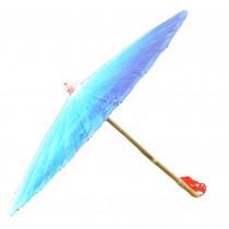 [Blue Impression] Rainproof Handmade Chinese Oil Paper Umbrella 33 inches