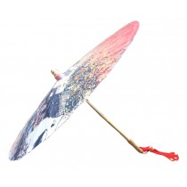 [Wu Town] Rainproof Handmade Chinese Oil Paper Umbrella 33 inches