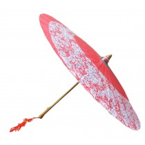 [Cherry Blossoms] Rainproof Handmade Chinese Oil Paper Umbrella 33 inches