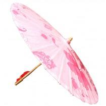 [Rose Design] Rainproof Handmade Chinese Oil Paper Umbrella 33 inches