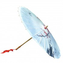 [Early Spring] Rainproof Handmade Chinese Oil Paper Umbrella 33 inches
