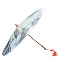 [Decent Landscape] Rainproof Handmade Chinese Oil Paper Umbrella 33 inches