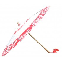 [Blossom Wreath] Rainproof Handmade Chinese Oil Paper Umbrella 33 inches