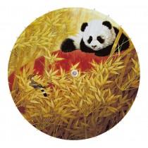 [Panda & Bird] Rainproof Handmade Chinese Panda Oil Paper Umbrella 33 inches