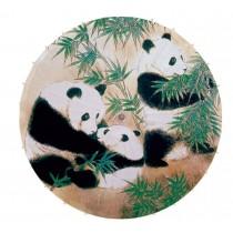 [Family] Rainproof Handmade Chinese Panda Oil Paper Umbrella 33 inches