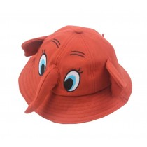 Boys Girls Summer Sun Protection Hat Toddler Cute Elephant Shape Cap, Red