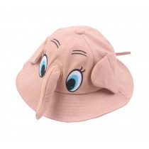 Boys Girls Summer Sun Protection Hat Toddler Cute Elephant Shape Cap, Pink