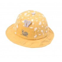 Boys Girls Summer Sun Protection Hat Toddler Snails Embroidery Cap, Yellow