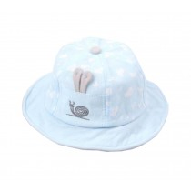 Boys Girls Summer Sun Protection Hat Toddler Snails Embroidery Cap, Blue