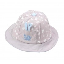 Boys Girls Summer Sun Protection Hat Toddler Snails Embroidery Cap, Gray