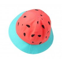 Boys Girls Summer Sun Protection Hat Kids Watermelon Fisherman Hat, Red