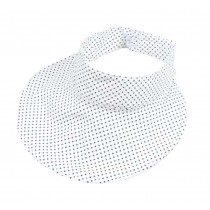 Kids Summer Sun Protection Empty Top Hat Fold-able Hat, White