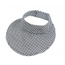 Kids Summer Sun Protection Empty Top Hat Fold-able Hat, Lattice