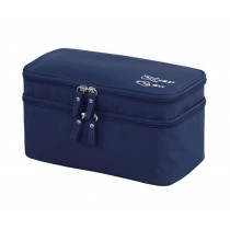 Classic Portable Ourdoor indoor Makeup Case Cosmetics Storage Bag&Box,Navy