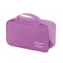 Classic High Quality Oxford Fabric Makeup Case Cosmetics Storage Bag,Purple