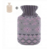 Lovely Small Elegant Plush Hot Water Bottle Wool Hand Warmer / 500 ML