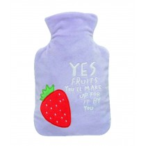 Lovely Medium Hot Water Bottle With Plush Cover, Lightweight Portable, 1 Liter