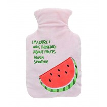 Lovely Cartoon Fruits Hot/Cold Water Bottle Portable Hand Warmer, 1000 ML, Pink