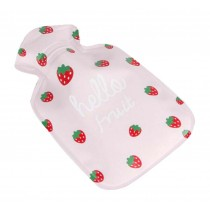 Mini Cute Children's Hot Water Bottle/Creative Hand Warmer 100 ML, Pink Fruits
