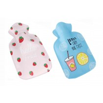 Set Of 2 Mini Lovely Children's Hot Water Bottle/ Hand Warmer, Light And Handy