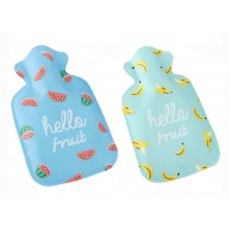 Set Of 2 Mini Lovely Children's Cartoon Fruits Hot Water Bottle/ Hand Warmer