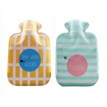 Set Of 2 Mini Lovely Children's Hot Water Bottles/ Hand Warmer, Twin Color 300ML