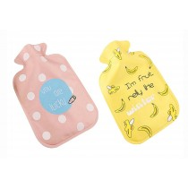 Set Of 2 Lovely Mini Hot Water Bottles/ Children Girls Hand Warmers, 300ML