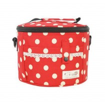 Exquisite Beauty Waterproof Oxford Cloth Small Lunch Bag, Red