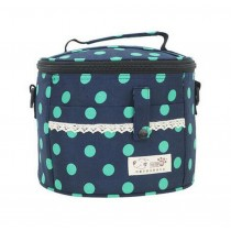 High-quality Waterproof Oxford Cloth Lunch Bag, Blue Background Green Point