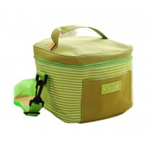 High-quality Oxford Cloth Square Striped Frozen Lunch Bag, Green