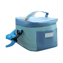 Multifunctional Square Striped Frozen Oxford Cloth square Lunch Bag, Blue