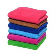 Set of 5 Thick Coral Clean Dishcloths Towels For Kitchen And Home,5 Colors
