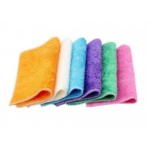 Set of 6 Bamboo Fiber Clean Dishcloths Clean Towels Absorbent,Colorful
