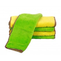 Set of 4 Thick Absorbent Cleaning Dishcloths Double-sided Dish Towels