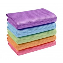 Set of 6 Durable Clean Dishcloth Absorbent Dish Rags Indoor Outdoor,Colorful