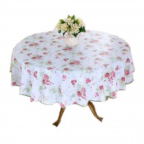 Waterproof Table Cloth,Flower Pattern Round Table Cloth,Oil-proof Tablecloth