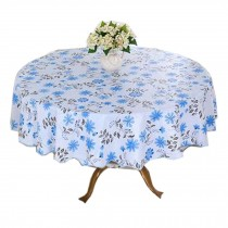 Waterproof Round Table Cloth/Flower Pattern Tablecloth/High-quality